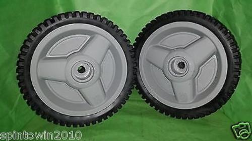 """Husqvarna 401274X460, 401274, 532401274 8"""" x 1 3/4"""" Wheels set of 2 oem"""