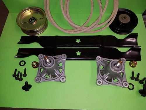 "Husqvarna 46"" Zero Turn Lawn Mower Deck Rebuild Kit Spindles Belt"