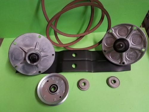 """Murray Lawnmower 38"""" Deck Rebuild Kit Spindles Blades Belt Pulley Adapters"""