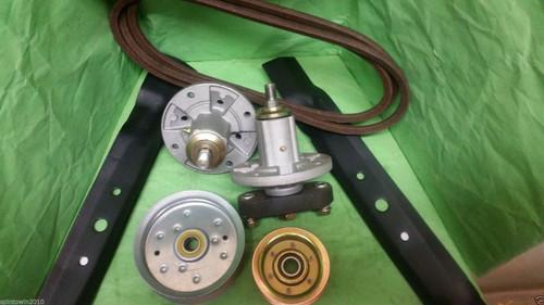 """Scotts L1742 and L17.542 42"""" Mower Deck Rebuild Kit Spindles Blades Belt Idlers"""