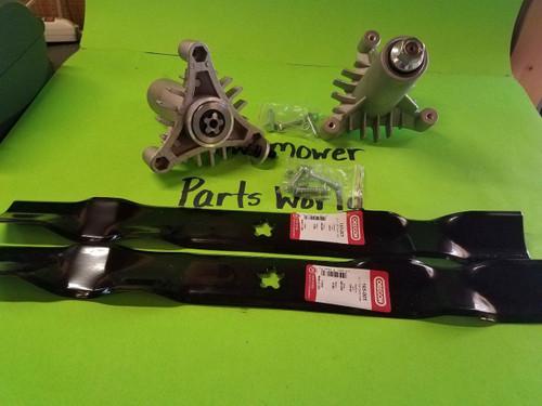 "Sears Craftsman LT1000 42"" Lawn Mower Deck Parts Kit 130794 134149 Oregon Blades"