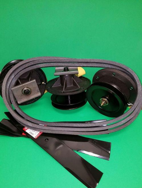 "Toro 52"" Z Master Mower Deck Rebuild Kit Spindles Blades Belt"