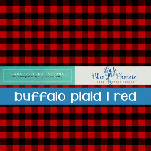 BUFFALO PLAID | RED PATTERNED VINYL