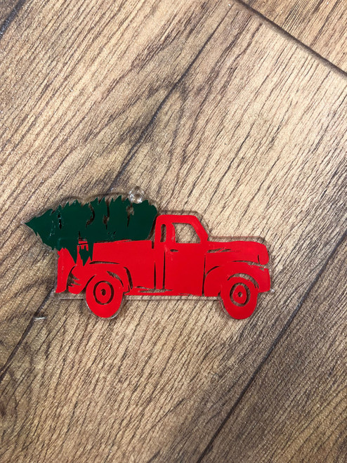 VINTAGE TRUCK WITH TREE ORNAMENT