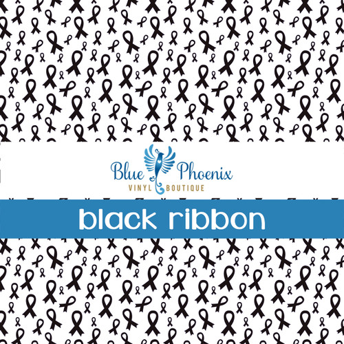 AWARENESS RIBBON | BLACK PATTERN VINYL