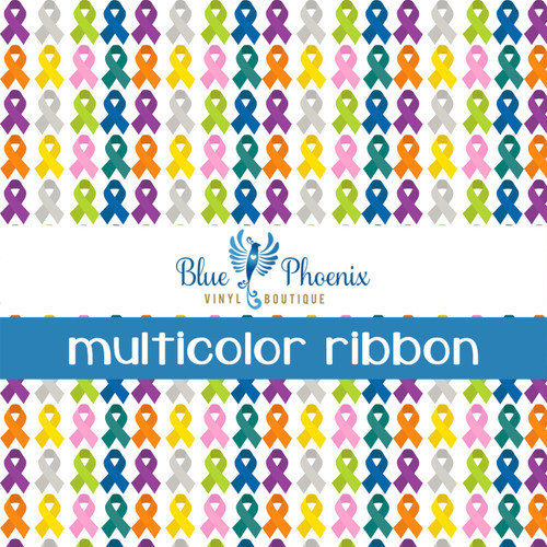 AWARENESS RIBBON | MULTICOLOR PATTERN VINYL