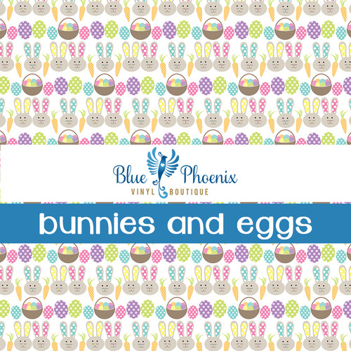 BUNNIES AND EGGS PATTERNED VINYL