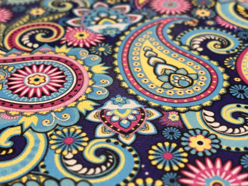 PAISLEY EXPLOSION PATTERNED LEATHER HTV ADHESIVE VINYL