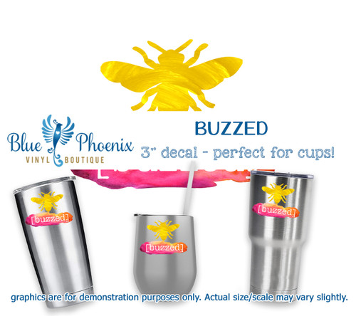 BUZZED COLOR CUP DECAL