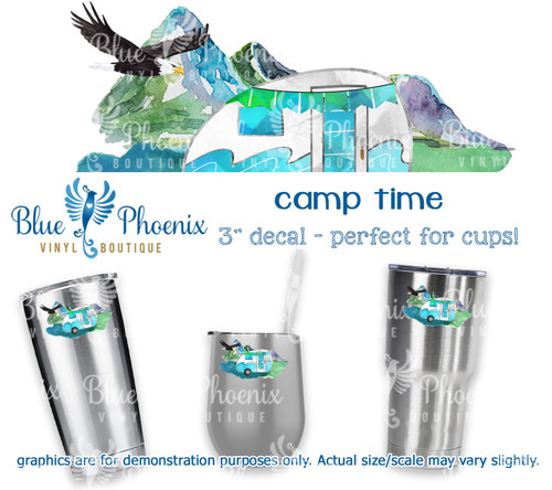 CAMP TIME COLOR CUP DECAL