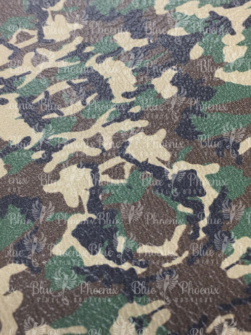 CAMO PATTERNED VINYL OR LEATHER