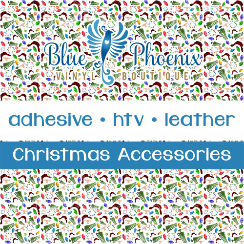 CHRISTMAS ACCESSORIES WITH PLAID HAT, CAR WITH TREE PATTERNED VINYL OR LEATHER