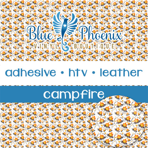 CAMPFIRE PATTERNED VINYL OR LEATHER