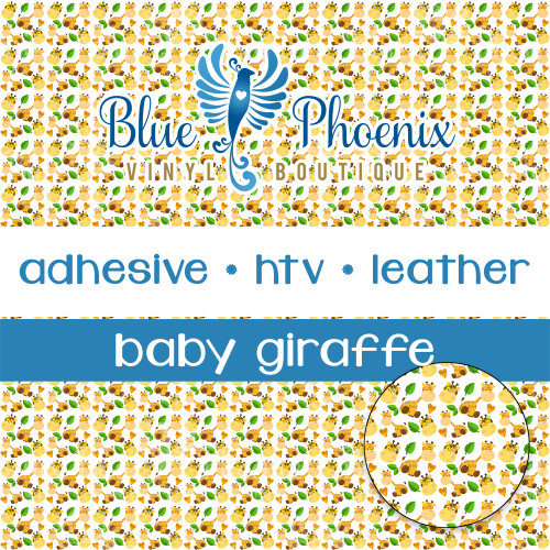 BABY GIRAFFE PATTERNED VINYL OR LEATHER