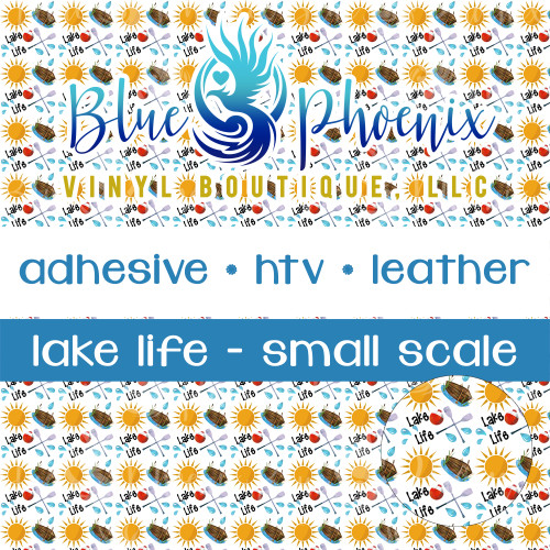 LAKE LIFE PATTERNED VINYL OR LEATHER