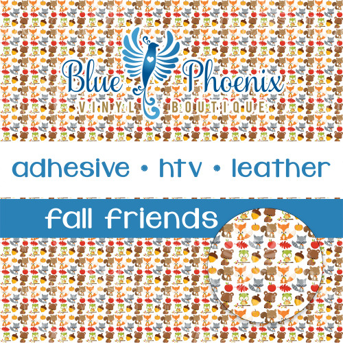 FALL FRIENDS PATTERNED VINYL OR LEATHER