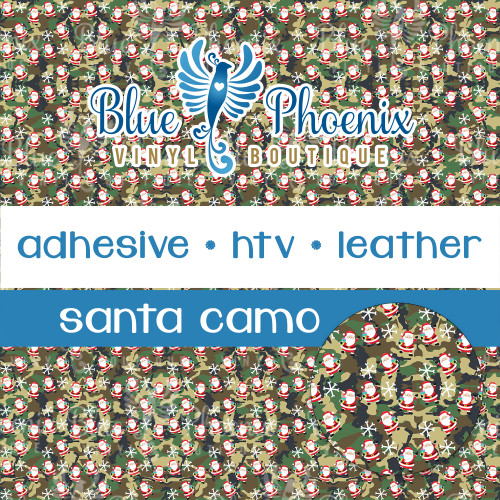 SANTA CAMO PATTERNED VINYL OR LEATHER