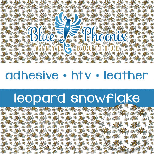 LEOPARD SNOWFLAKE PATTERNED VINYL OR LEATHER