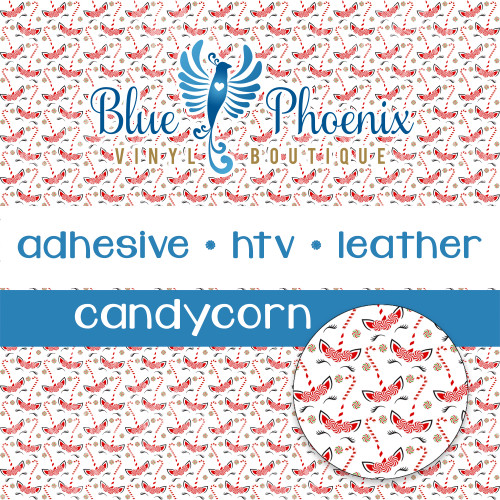 CANDYCORN CHRISTMAS UNICORN PATTERNED VINYL OR LEATHER