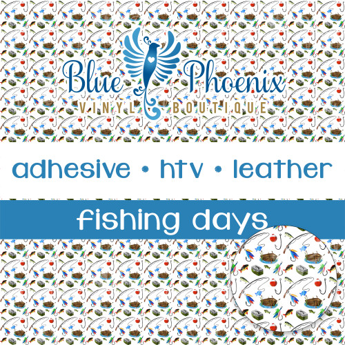FISHING DAYS SM SCALE PATTERNED VINYL OR LEATHER