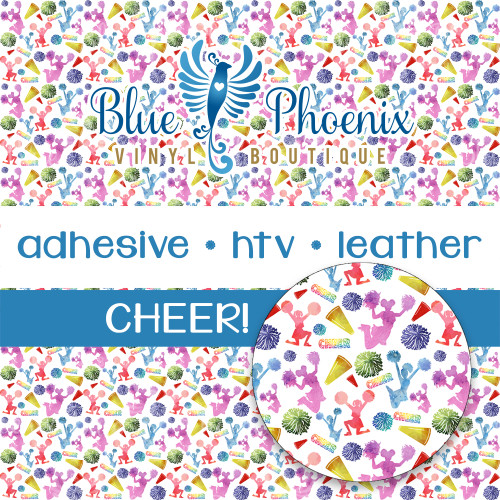 CHEER PATTERNED LEATHER HTV ADHESIVE VINYL