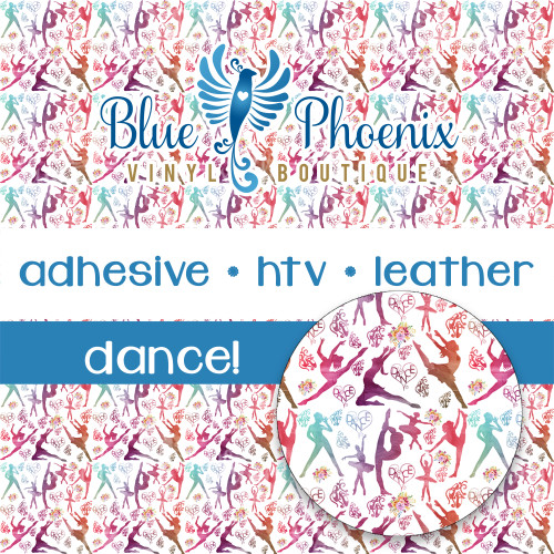 DANCE PATTERNED LEATHER HTV ADHESIVE VINYL