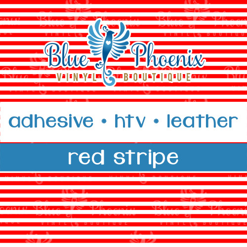 RED STRIPES PATTERNED VINYL OR LEATHER