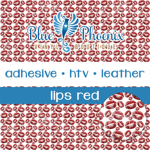 LIPS - RED PATTERNED VINYL OR LEATHER