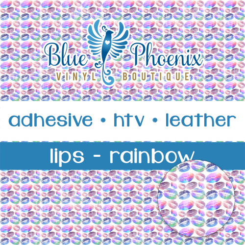 LIPS - RAINBOW PATTERNED VINYL OR LEATHER