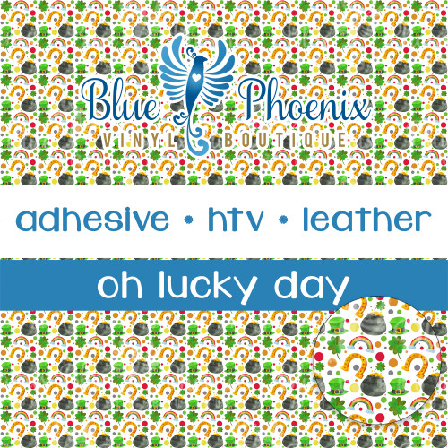 OH LUCKY DAY PATTERNED VINYL OR LEATHER