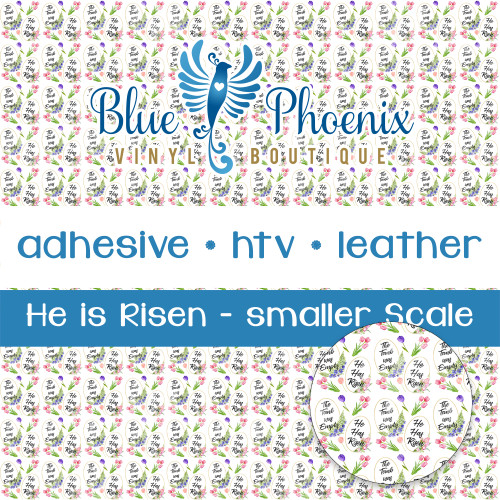EASTER HE IS RISEN PATTERNED VINYL OR LEATHER