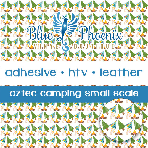 AZTEC CAMPING PATTERNED VINYL OR LEATHER