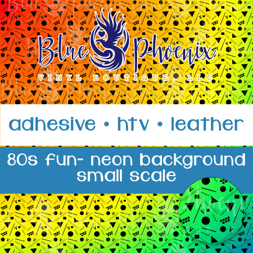 80s FUN NEON BACKGROUND PATTERNED VINYL OR LEATHER