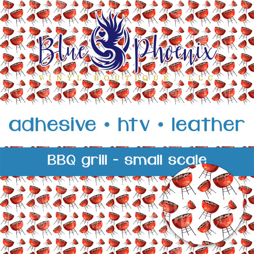 BBQ GRILL SMALL SCALE PATTERNED VINYL OR LEATHER