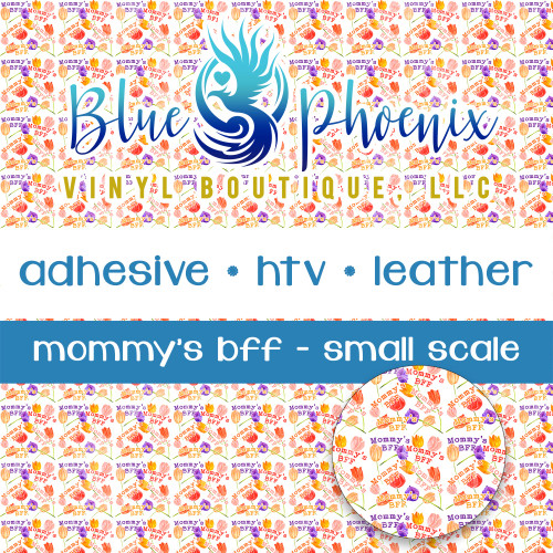 MOMMY'S BFF TULIP PATTERNED VINYL OR LEATHER