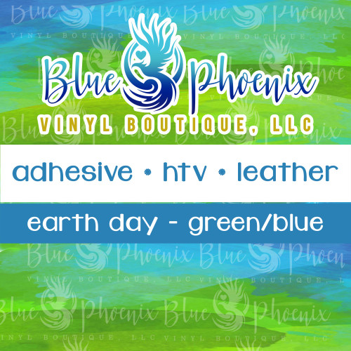 EARTH DAY GREEN/BLUE PATTERNED VINYL OR LEATHER