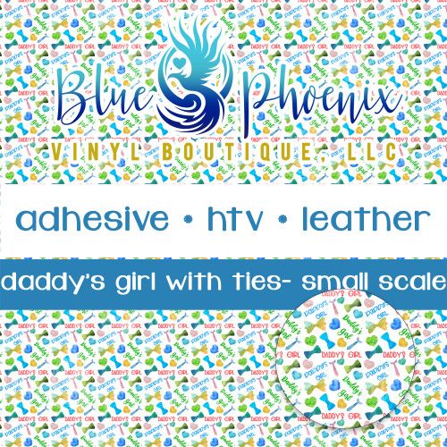 DADDY'S GIRL WITH TIES PATTERNED VINYL OR LEATHER