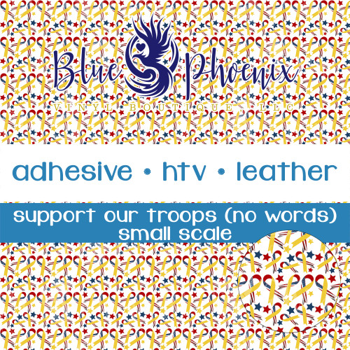 SUPPORT OUR TROOPS NO WORDS PATTERNED VINYL OR LEATHER