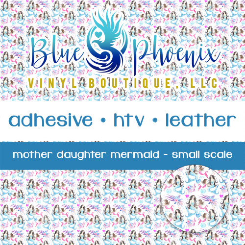 MERMAID MOTHER & DAUGHTER PATTERNED VINYL OR LEATHER