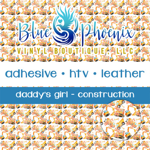 DADDY'S GIRL CONSTRUCTION PATTERNED VINYL OR LEATHER