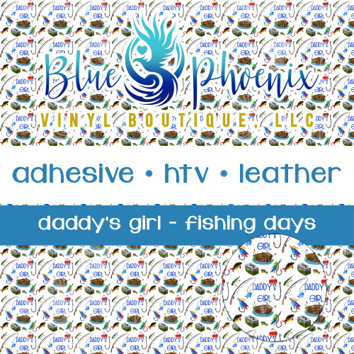 DADDY'S GIRL FISHING PATTERNED VINYL OR LEATHER
