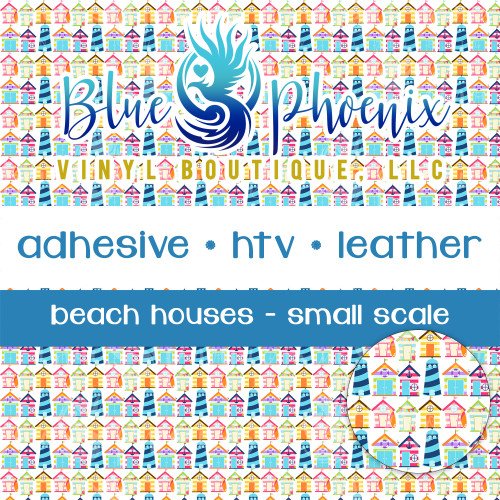 BEACH HOUSES PATTERNED VINYL OR LEATHER