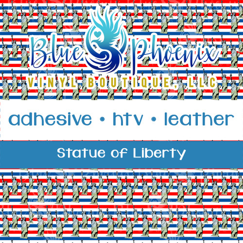 STATUE OF LIBERTY PATTERNED VINYL OR LEATHER