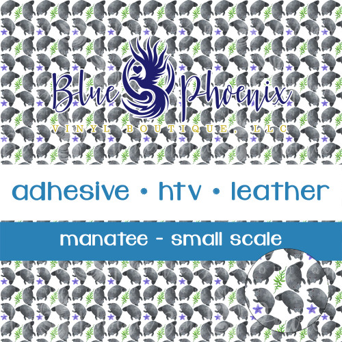 MANATEES PATTERNED VINYL OR LEATHER