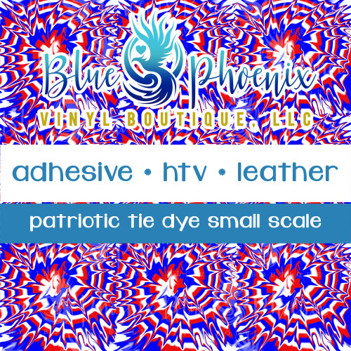 PATRIOTIC TIE DYE SMALL SCALE PATTERNED VINYL OR LEATHER
