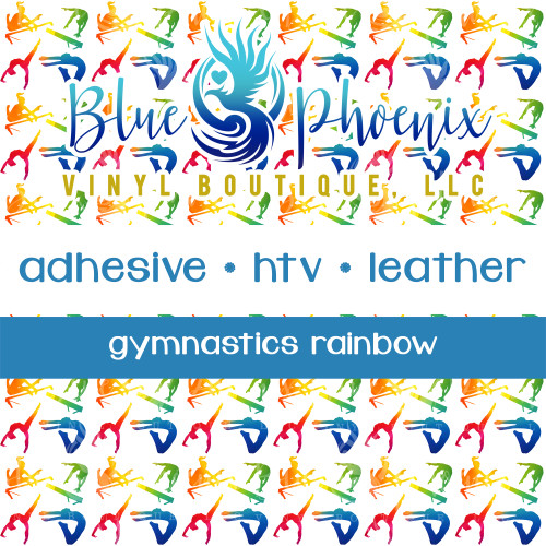 GYMNAST RAINBOW PATTERNED VINYL OR LEATHER