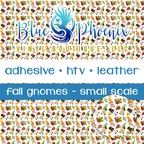 FALL THANKSGIVING GNOME PATTERNED VINYL OR LEATHER