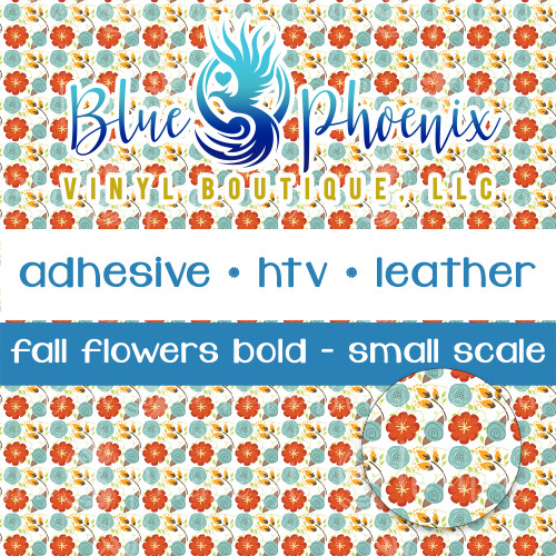 FALL FLOWERS BOLD PATTERNED VINYL OR LEATHER