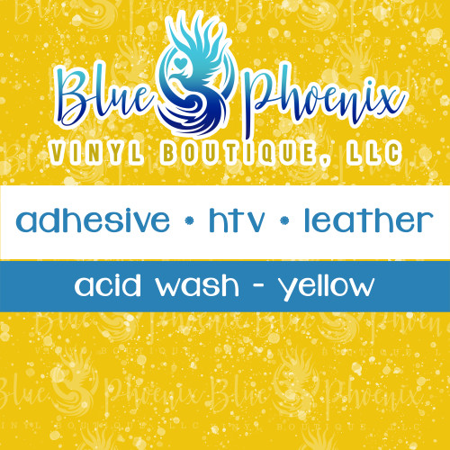 ACID WASH YELLOW PATTERNED VINYL OR LEATHER