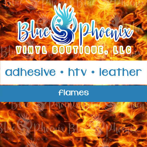FLAMES PATTERNED VINYL OR LEATHER